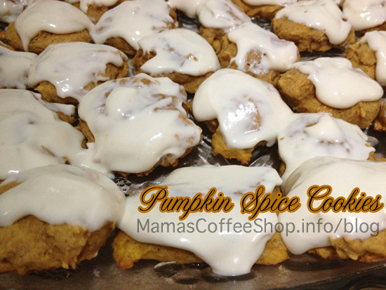 Pumpkin Spice Cookies with Cream Cheese Icing | Mamas Coffee Shop Blog