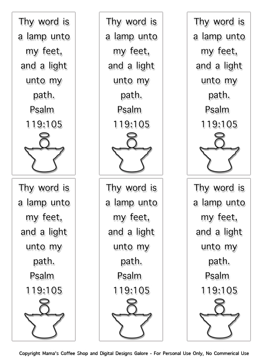 Free Pdf Download Psalm 119 105 Bookmarks Mamas Coffee