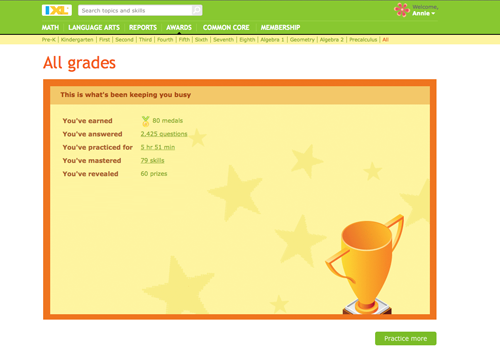 IXL-Ana-Awards for TOS Review and Mama's Coffee Shop