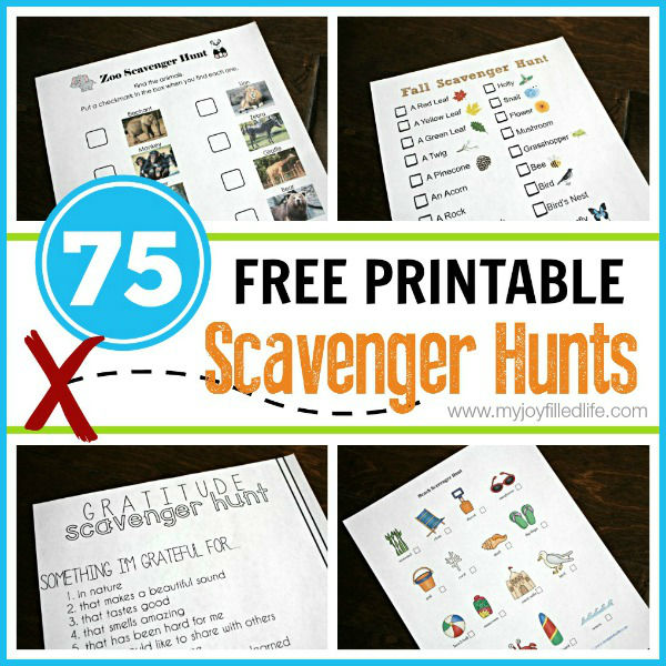 75-Free-Printable-Scavenger-Hunts