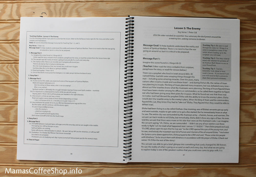 Mamas Coffee Shop | Teen Prasso Teaching Lessons Book - Bible Curriculum