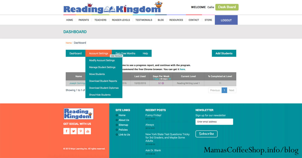 MamasCoffeeShop-ReadingKingdom-AccountSettings