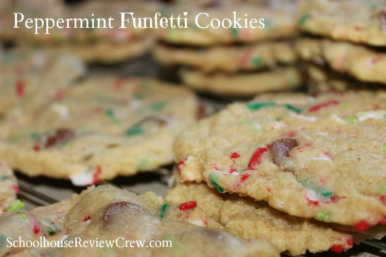 Peppermint Funfetti Cookies