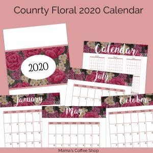 Country Floral 2020 Calendar